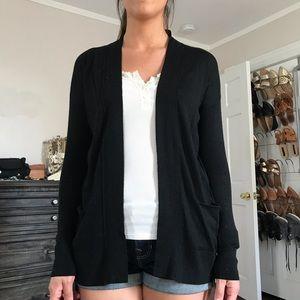 Loft black open cardigan. Size XS